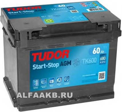 Аккумулятор Tudor Intelligent Power TK600 AGM
